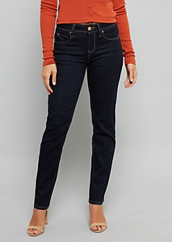 YMI Wanna Betta Butt Dark Rinse Straight Leg Jeans