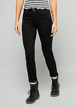 YMI Wanna Betta Butt Black Straight Leg Jeans