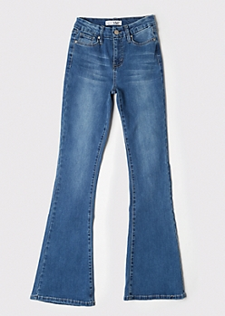YMI Medium Wash Curvy Flare Jeans