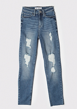 YMI Medium Wash Throwback Straight Dream Jeans
