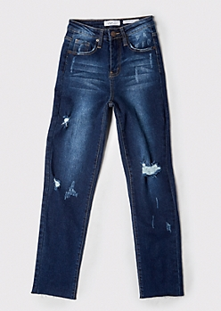 YMI Dark Wash Throwback Straight Dream Jeans