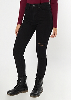 YMI Dream Black High Waisted Skinny Jeans