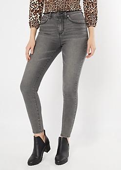 YMI Wanna Betta Butt Charcoal Mom Jeans