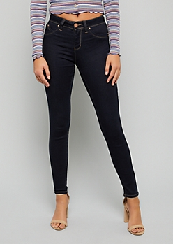 YMI Wanna Betta Butt Dark Rinse Mid Rise Skinny Jeans