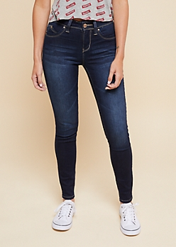 YMI Wanna Betta Butt Dark Wash Mid Rise Booty Jeans
