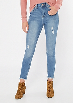 YMI Dream Throwback Medium Wash Skinny Ankle Jeans