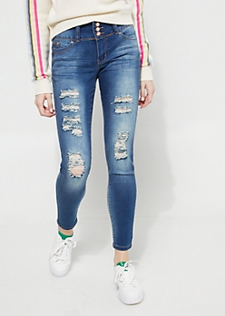 Betta Butt Medium Wash Distressed Skinny Jeans