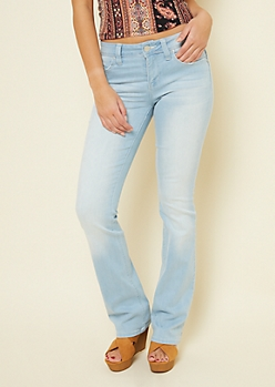 YMI Wanna Betta Butt Light Wash Mid Rise Bootcut Jeans
