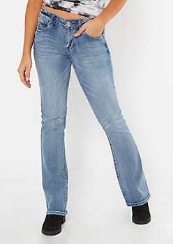 Medium Wash Mid Rise Bootcut Jeans