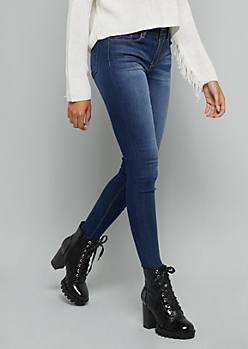 Dark Wash Mid Rise Slim And Shape Jeggings