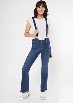 Dark Wash Bootcut Overall Jeans