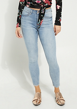 Light Wash High Waisted Soft Jeggings