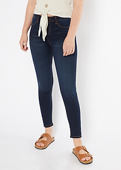 Dark Wash Pull On Jeggings