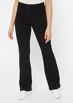 Cello Black Extra High Waisted Flare Jeans
