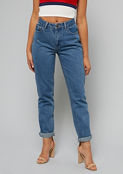Medium Wash Ultra High Waisted Mom Jeans