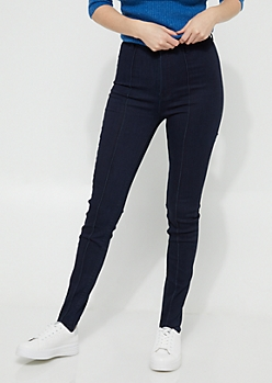 Dark Wash Extra High Waisted Stirrup Jeggings