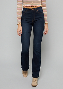 Dark Wash High Waisted Flare Jeans