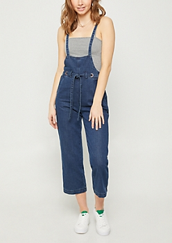 Wide Leg Dark Wash Overalls
