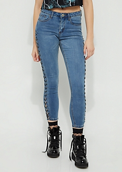 Plus Vintage Laced High Rise Ankle Jeggings in Regular