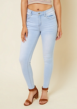 Light Wash High Waisted Super Skinny Jeans