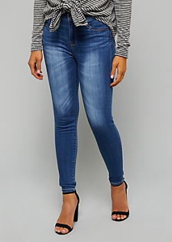 Medium Wash High Waisted Skinny Booty Jeans