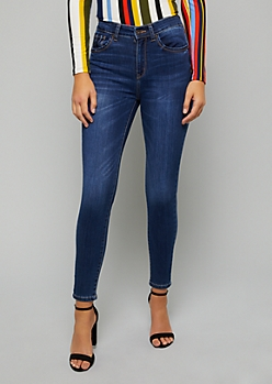 Dark Wash High Waisted Skinny Booty Jeans