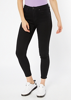 Black High Waisted Booty Jeggings