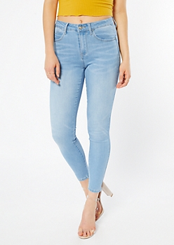 Light Wash High Waisted Booty Jeggings