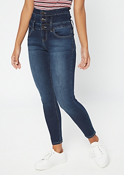 Dark Wash Extra High Waisted Slimming Jeggings