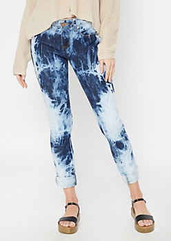 Light Acid Wash Marbled Jeggings