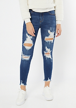 KanCan Medium Wash Distressed Jeggings