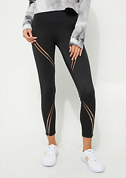 Black Shadow Stripe Leggings