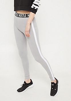 Gray Super Soft Hustle Leggings