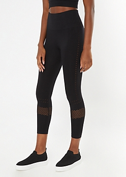 Black Laser Cut Seamless Leggings