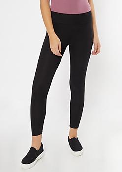 Black Ribbed Knit Super Soft Leggings