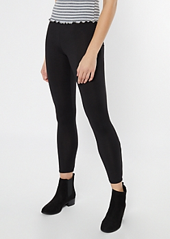 Black Super Soft Lattice Leggings