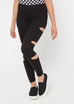 Black Essential Cutout Leggings