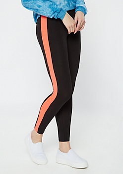 Salmon Side Striped Super Soft Leggings