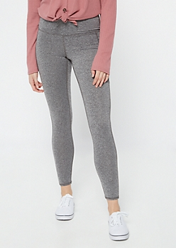 Heather Gray High Waisted Cellphone Pocket Leggings