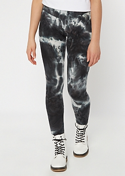 Black Tie Dye Super Soft Leggings