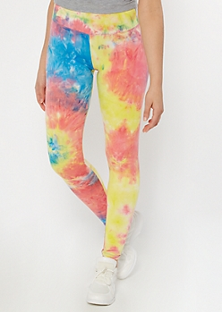 Neon Rainbow Tie Dye Super Soft Leggings