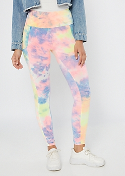 Bright Tie Dye High Waisted Cell Phone Pocket Leggings