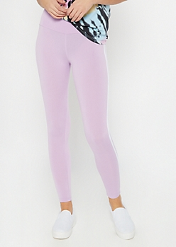 Lavender Side Striped Super Soft Leggings