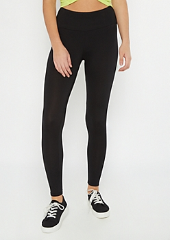 Black Side Striped Super Soft Leggings