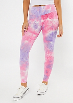 Purple Tie Dye Super Soft Leggings