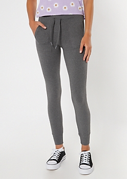 Gray High Waisted Super Soft Jogger Leggings