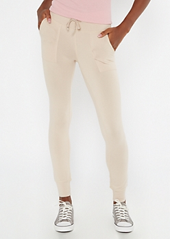 Tan High Waisted Super Soft Jogger Leggings
