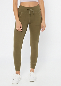 Olive High Waisted Super Soft Jogger Leggings