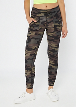 Camo Print High Waisted Super Soft Jogger Leggings