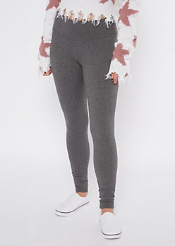 Heather Gray Fleece Lined Leggings